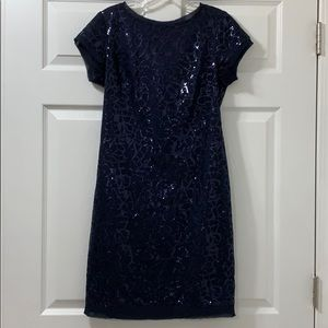 Vince Camuto Blue Sequin Dress